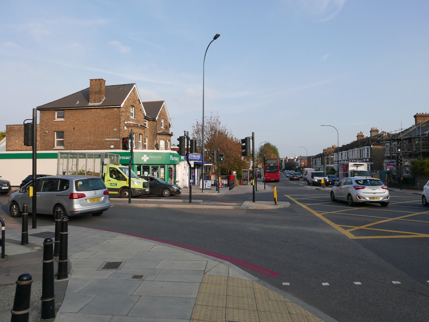 View of a junction on the South Circular, London